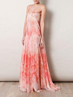 McQueen anemone-print dress