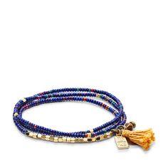Fossil x Me to We Rafiki Beaded Wrap Bracelet