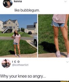 like bubblegum. Why your knee so angry... – popular memes on the site iFunny.co #adventuretime #tvshows #bubblegum #why #angry #pic Crazy Funny Memes, Really Funny Memes, Stupid Funny Memes, Wtf Funny, Funny Tweets, Funny Laugh, Funny Relatable Memes, Funny Posts, Hilarious Texts