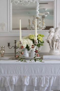 #shabby #candle holders