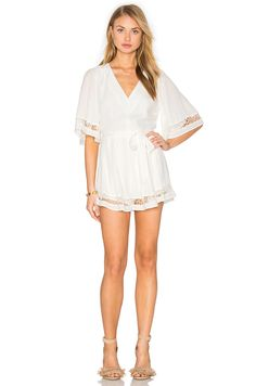 Shop for Lovers + Friends Serafina Romper in Ivory at REVOLVE. Free day shipping and returns, 30 day price match guarantee. Lovers And Friends, Friend Outfits, Revolve Clothing, Cover Up, Bell Sleeve Top, Ivory, Rompers, Lace Dresses, Clothes