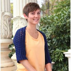 Crochet Jacket Free Pattern Via Garn Studio : Knitting bolero and shrug on Pinterest Shrug Pattern ...