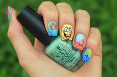 Spongebob square nails