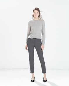 ZARA - COLLECTION SS15 - PINSTRIPE TROUSERS WITH BELT