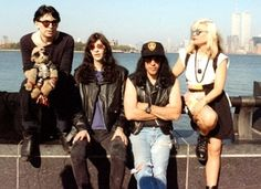 Chris Stein, Joey & Marky Ramone, Debbie Harry  -  Blondie+Ramones in NyC!  -  another photo, colour photo