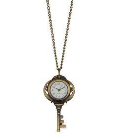 Another great find on #zulily! Goldtone Key Watch Pendant Necklace #zulilyfinds