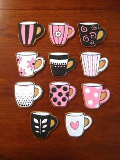 coffee mug decorated cookie | Found on cakecentral.com
