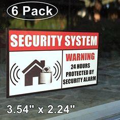 Alarm System Yard Sign With Pcs Window Stickers Signs Home - Window stickers for home security