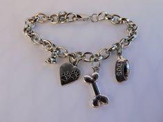 Dog Lovers Charm Bracelet by SANDJHOTSHOTS on Etsy