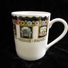 32c5a5cf240 Mary Engelbreit At Home Coffee Mug Love Family Friends 2001 Cup Enesco  #Enesco #maryengelbreit