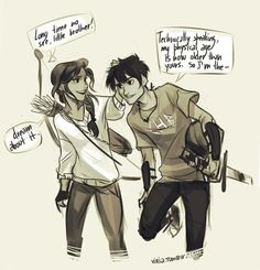 Bianca and Nico di Angelo if Bianca survived. *viria. I'm dying! Nico looks so happy!!! ;( and like Percy