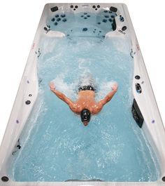 A Mint Michael Phelps Signature Swim Spa By Master Spas. See More here: http://www.poolandspa.com/page6401.htm