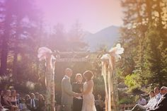 Rustic Glam Sundance Resort Wedding~ love this arbor!