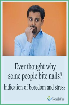 Ever thought why some people bite nails? Ever thought why some people bite nails? Types Of People, Some People, Nail Biting Habit, Bad Nails, Best Physique, Obsessive Compulsive Disorder, Brittle Nails, Healthy Nails, Have You Ever