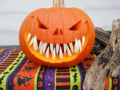Pumpkin teeth!