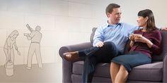 Un mari et une femme prenant le temps de discuter ensemble