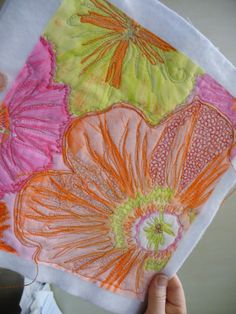 Quilting in colors! Fiber arts at a level of awesome for which I can only dream.