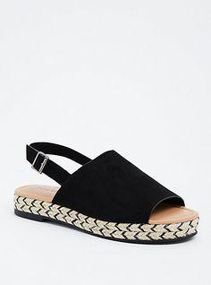 Espadrille Platform Sandals (Wide Width)Espadrille Platform Sandals (Wide Width), BLACK