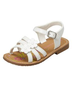 This White Flower Strap Sandal by Laura Ashley is perfect! #zulilyfinds