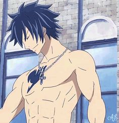 Gray's not hot, he's cool :3. *Imagines someone photoshopping sunglasses onto this gif* x3.