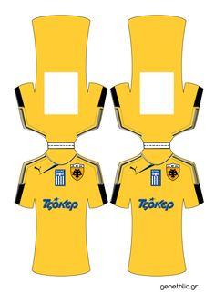 Πρόσκληση με τη φανέλα της ΑΕΚ: δωρεάν εκτύπωση και οδηγίες-soccer invitation AEK, free template