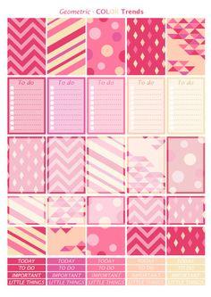 Printable stickers Color Blush 2 pdf by Lateliercreatif06