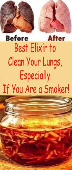 The lung-cleansing drink that every smoker and ex-smoker should try.