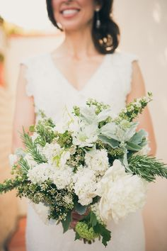 Beautiful Bouquet | Photography: Zoom Theory | As Seen on SMP: http://www.stylemepretty.com/2013/11/20/modern-malibu-wedding-from-zoom-theory/