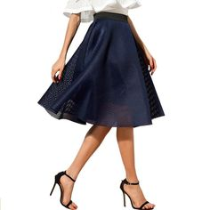 2d15e85e70a6 Casual Hollow Out Solid Color Knee Length Skirt. Midi Skirt CasualCasual  SkirtsCasual Skirt OutfitsBlack Midi SkirtWomen's Summer FashionWomens ...