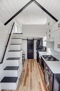 Barn Door to Bathroom - Kokosing 2 by Modern Tiny Living
