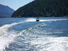 Jet Ski Shuswap Lake. definitely did this on the honeymoon :)