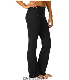 WOMEN'S SMALL UNDER ARMOUR BLACK SEMI-FITTED YOGA PANTS WORK OUT #UnderArmour #PantsTightsLeggings