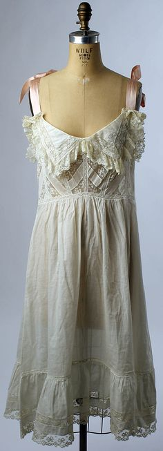 10-12-11  Wedding Lingerie, 1901, American, cotton and silk (gown w/o robe)