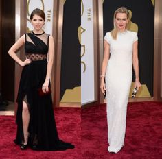Unexpected Details - Oscars 2014 -  Anna Kendrick in J. Mendel and Naomi Watts in Calvin Klein Collection