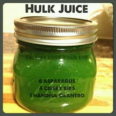 Hulk Juice (Post Workout Juice) - high in protein, low in carbs, low in calories, rich in sodium & potassium