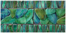 Handmade tile - Jungla leaves #2