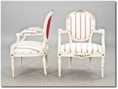 Gustavian Armchairs Swedish Furniture From Bukowski Market- Gustavian, Gustavian Furniture, Rococo Swedish, Swedish Antiques, Swedish Auctio...
