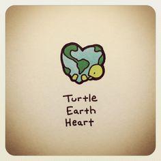 Turtle Earth Heart