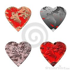 Hearts on white background by Graciela Rossi, via Dreamstime