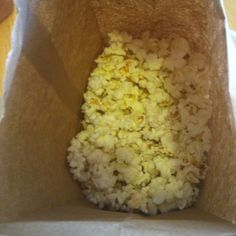 My new fave way to make popcorn- 1/4 to 1/3 kernels in a plain paper bag (like a lunch bag) and pop in the microwave 2-3 min. No oil & you control how much butter  No mess, either.