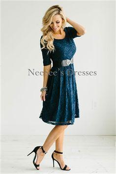 Navy Lace Modest Dress by Mikarose, Vintage Dress, Church Dresses, dresses for church, modest bridesmaids dresses, trendy modest, modest skirt, modest shirts, cute modest dresses, modest church dresses, mikarose, trendy boutique