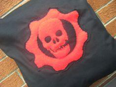 gears of war red skull logo fenix hvideo game pillow cushion gift