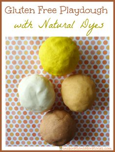 Gluten Free Playdough with Natural Dyes - the colors are perfect for autumn!