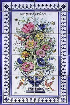 panno_tsvetyi ceramic_garden