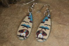 Pawn hand made stunning sand painting hook dangle by TrPawn, $9.00