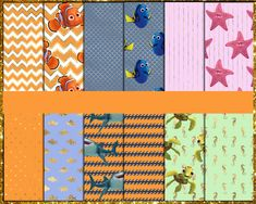 Finding Nemo Digital Paper Finding Nemo, Digital Papers, Etsy Store, Vibrant Colors, Card Stock, I Shop, Banner, Banner Stands, Banners