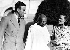 1947: Lord Mountbatten, the last viceroy of India, and Gandhi discuss the transfer from British to Indian rule Corbis
