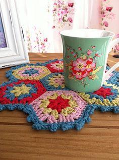 Pretty hexagon mat from Tea at Weasel's