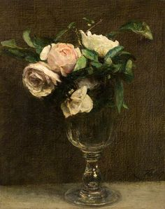 1872 Roses oil on canvas 32.5 x 25.5 cm Dundee Art Galleries and Museums, Scotland, UK