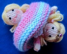 Flutterby Patch: Tiny Topsy the tooth fairy free knit doll pattern Knitted Doll Patterns, Knitted Dolls, Baby Knitting Patterns, Loom Knitting, Crochet Dolls, Free Knitting, Crochet Patterns, Knitting Toys, Knitting Projects
